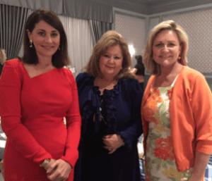 Jennifer Valoppi, Laurie Cunnington and Katana at Women of Tomorrow graduation luncheon