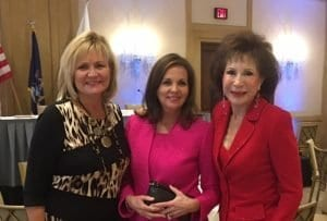 Katana Abbott with Pamela Good, founder of Beyond Basics and Florine Mark of Weight Watchers at the Northwood University Distinguished Women Panel Discussion and Luncheon