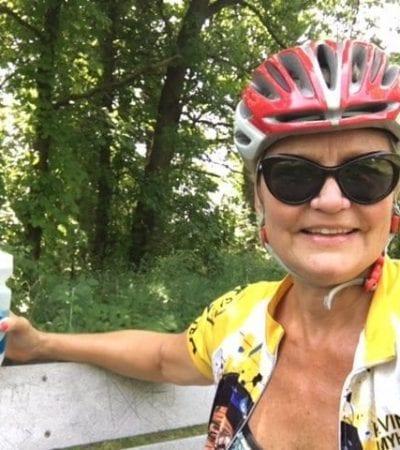 biking in helmet