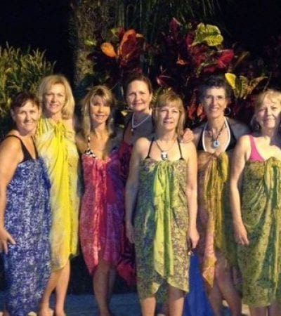 ladies in sarongs